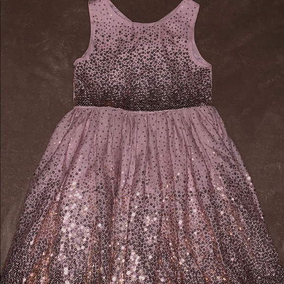 H M Dresses Hm Girls Pink Sequin Festive Dress 45y Poshmark